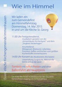 Plakat Himmelfahrtstag 2015