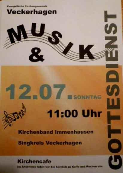 Plakat Singkreis Veckerhagen